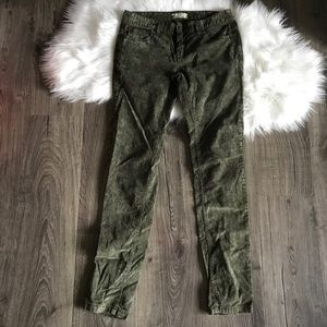 Free people olive green vintage washed cord pants